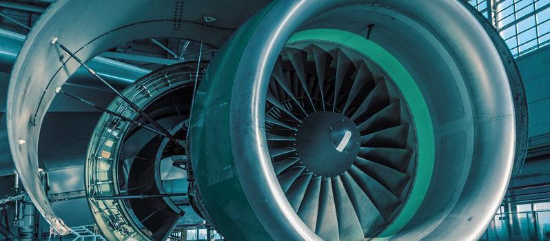 Revisie van onderdelen straalmotoren luchtvaart