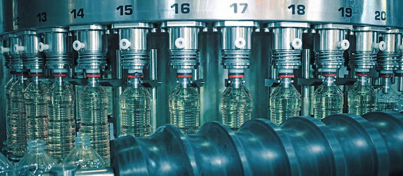 Afvulmachine in de voedselindustrie
