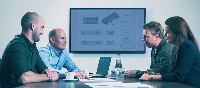 ProCleanroom team in vergadering met klanten