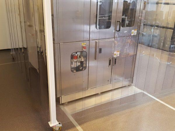 Mobiele cleanroom voor halfgeleiderapplicatie