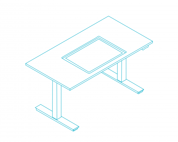 HEIGHT ADJUSTABLE CLEANROOM TABLE – INSPECTION